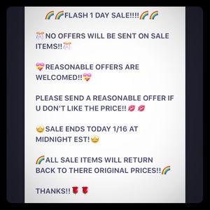 1 DAY FLASH SALE!!!!